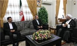 حضور لاریجانی در جلسه هیئت رئیسه مجلس دلیل ترک زودهنگام نشست سران قوا بود