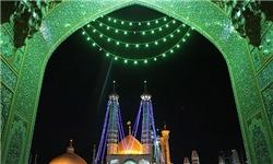 نورباران آسمان قم در میلاد نور