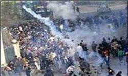 درگیری تظاهرکنندگان بحرینی با نیروهای امنیتی رژیم آل خلیفه
