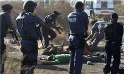 پلیس آفریقای جنوبی 72 معدنچی معترض را بازداشت کرد