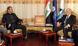 دیدار سفیر ایران در عراق با ابراهیم جعفری