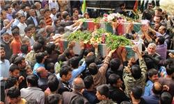 تشییع و تدفین شهید یوسف حمزهلو در زنجان