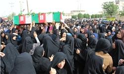 وداع غمبار خوزستانیها با مادر سردار شهید مهدی نریمی