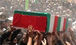 تشییع پیکر مادر شهید سید محمدرضا موسوی در مسجدسلیمان