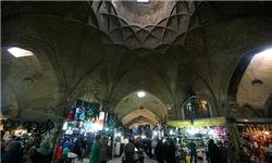سقف بازار اراک قبل از پایه زدن فرو ریخت