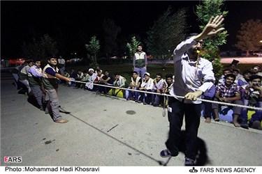 مسابقه طناب کشی در اردوی طرح ولایت در اردوگاه شهید دستغیب استان فارس