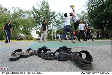 تفریح و مسابقه والیبال در اردوی طرح ولایت در استان فارس