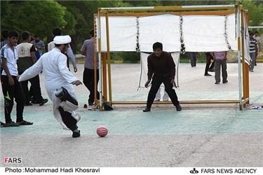 تفریح و مسابقه فوتبال در اردوی طرح ولایت در استان فارس