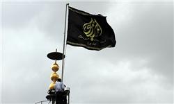 پرچم گنبد بارگاه حضرت احمدبن موسی شاهچراغ (ع) تعویض شد
