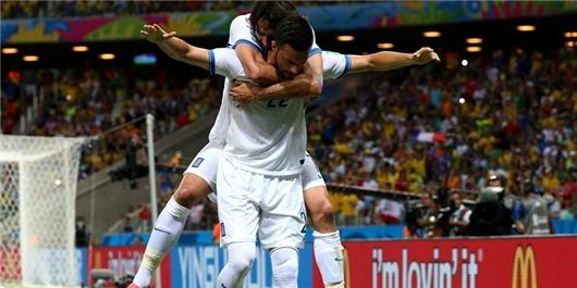 پیروزی یونان مقابل ساحل عاج
