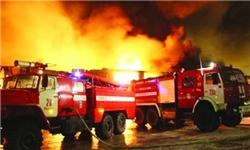 خودروی پژو 405 در جاده اهرم آتش گرفت