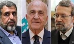 دیدار وزیر دفاع لبنان و دبیرکل جنبش جهاد اسلامی فلسطین با لاریجانی