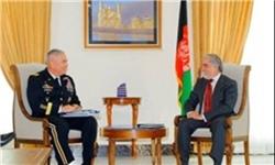 دیدار عبدالله با فرمانده نظامیان خارجی/ پیوستن 20 شبهنظامی طالبان به روند صلح