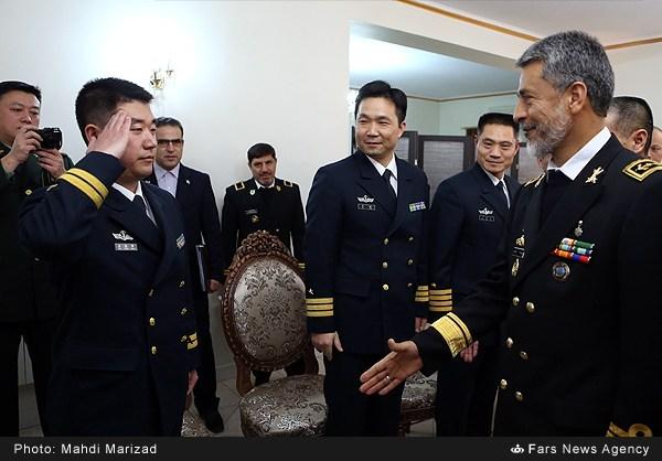 دیدار مشاور فرمانده نیروی دریایی چین با فرمانده نیروی دریایی ارتش