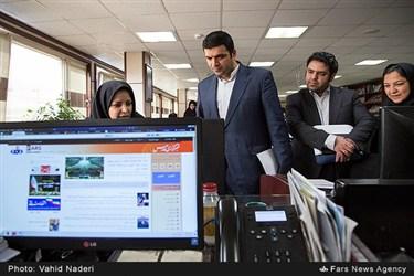 بازدید امیر هامونی مدیرعامل شرکت فرابورس از خبرگزاری فارس