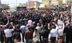 مراسم عزاداری سالروز شهادت حضرت فاطمه(س) در قلعه رئیسی برگزار شد