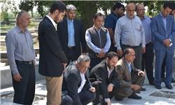 تجلیل از مقام شامخ شهدا و حضور بر مزار زندهیاد جابر معافی