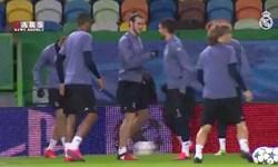 فیلم/ تمرین تیم رئال مادرید در ورزشگاه خوزه آلوالاده تیم اسپورتینگ