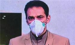 عکس/ حضور گوینده اخبار خوزستان با ماسک در تلویزیون