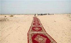 پهن کردن فرش قرمز در صحرا برای عبور وزیر مصری جنجال آفرید