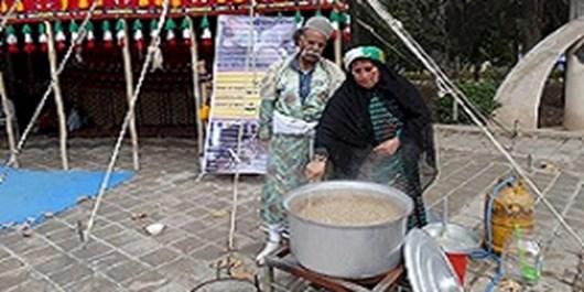 آموزش پخت غذاهای محلی و سنتی کهگیلویه و بویراحمد برای مسافران و گردشگران در پارک ساحلی یاسوج