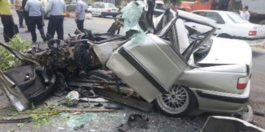 سرعت غیرمجاز راننده خودروی سمند را به کام مرگ کشاند