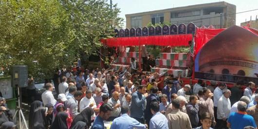 مردم شهرستان چادگان میزبان کاروان شهدا بودند