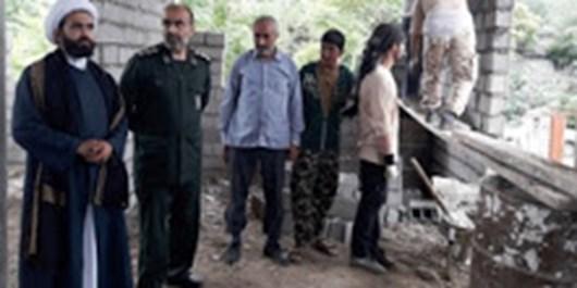 ساخت 6 خانه برای افراد محروم به همت بسیجیان قائمشهری