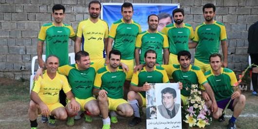 دیدار تیم فوتبال رسانه ورزش مازندران و یاران زنده یاد جابر معافی/ یاران جابر 6 ؛ رسانه مازندران 2