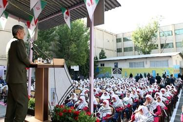 سخنرانی امیر سرتیپ «امیر حاتمی» وزیر دفاع در مراسم  زنگ آغاز سال تحصیلی 97-96 با حضور