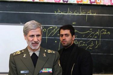 زنگ آغاز سال تحصیلی 97-96 با حضور امیر سرتیپ «امیر حاتمی» وزیر دفاع