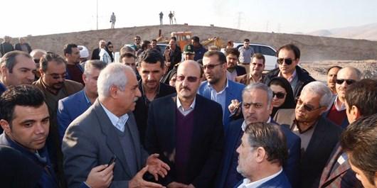 بازدید استاندار قزوین از پروژه انتقال آب سد طالقان