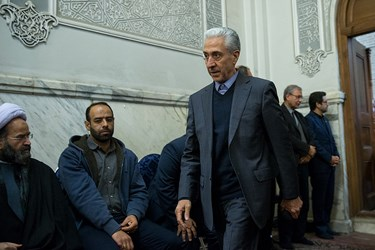 منصور غلامی وزیر علوم در مراسم بزرگداشت جانباختگان نفتکش سانچی