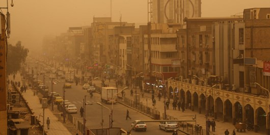 هوای 7 شهر خوزستان در وضعیت خطرناک قرار گرفت