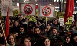 تظاهرات هزاران نفر در اتریش در اعتراض به حضور افراطگرایان در دولت