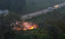 سقوط جنگنده «اف 16» رژیم صهیونیستی در «الجلیل»/منبع سوری: چند پرنده دشمن را هدف قرار دادیم+عکس و فیلم