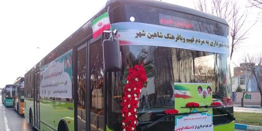 اضافه شدن 5 دستگاه اتوبوس به ناوگان درونشهری شاهینشهر