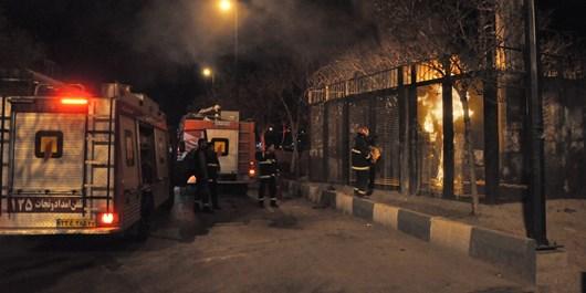 مهار آتشسوزی شبانه دکل BTS  در اراک