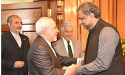 دیدار ظریف با شاهد خاقان عباسی نخستوزیر پاکستان