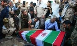 تشییع پیکر 2 شهید گمنام دفاع مقدس در یادمان هفتتپه