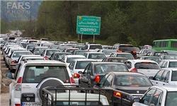 ترافیک فوقسنگین در محورهای تهران به سمت شهرهای شمالی کشور