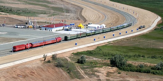 بهرهبرداری از خط آهن میانه- باسمنج سال آینده/پیش بینی پل یک کیلومتری  خط آهن باسمنج تا ائلگلی