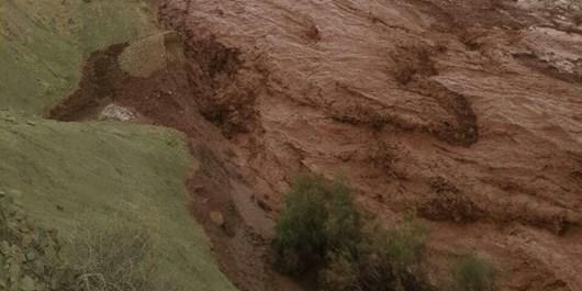 سیلاب در منطقه گردشگری آبگرم