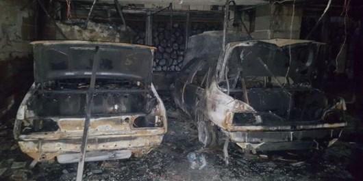 آتشسوزی 3 دستگاه خودرو در پارکینگ ساختمانی در تبریز/ 11 نفر نجات یافتند
