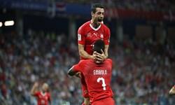 برتری سوئیس مقابل کاستاریکا در نیمه نخست