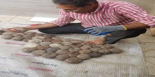 قلوهسنگ تزئینی هنر بدیع نمدمالی  شیراز/ صادرات نمد قلوهسنگی