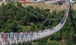 پل معلق خلخال سال آینده افتتاح میشود/ شمارش معکوس برای بهرهبرداری از جاده خلخال- ماسوله
