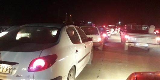 قفل شدن جاده ساری ـ تاکام و بلاتکلیفی چندین ساعته مسافران