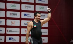 وزنهبرداری قهرمانی آسیا  سهراب مرادی  در مجموع مدال نقره گرفت