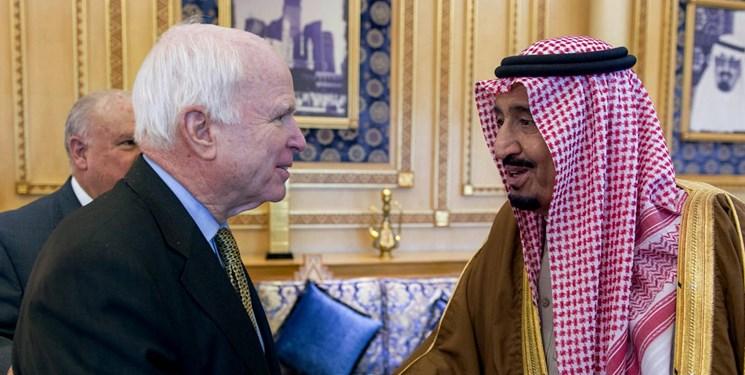 وزیر خارجه و پسر شاه سعودی: «جان مککین» یک قهرمان بود